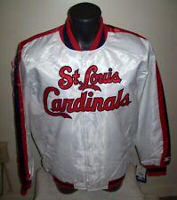 ST. LOUIS CARDINALS Starter Snap Down Jacket WHITE  M L XL 2X