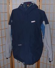 Quiksilver Snow Gore-Tex Jacket Heavy Weather Series Ski Snow Mens M Blue Gray