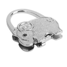 Handbag Hook Holder Rhinestone Purse Holder Elephant Foldable Hook Hanger
