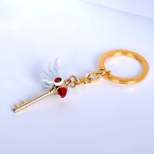 Card Captor Sakura Kinomoto Sakura Star Wand Keyring Pendant Anime Key Chain New