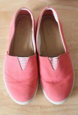 Hotter Laurel Pumps Size UK 5.5 Coral Pink Canvas Flat Shoes