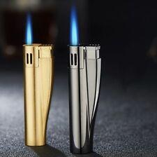 straight blue jet flame butane lighter compact portable