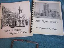 Hymn Stories Christian Congregational Church Bible Study SET Author Signed RARE
