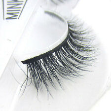 Luxurious 100% Siberian Mink Fur Eye Lashes Messy Natural 3D False Eyelashes