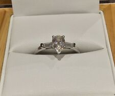 1.4 Carat Pear Diamond Engagement Ring In Platinum By Clarity Boutique Size M