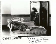 Cindy Lauper TOP SINGER autograph, In-Person signed photo