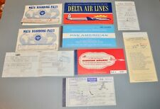 VTG 1960 Delta Pan Am Airlines Flight Hawaiian TWA Military MATS Boarding Pass