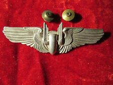 US Army Air Force AAF Aerial Gunner wing 3 inch clutch Back Huff collection !