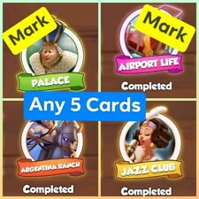 Coin master card Any 5 card from Jazz Airport Argentina Palace set Total 5 card