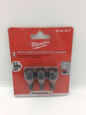 Milwaukee Impact Insert Magnetic Nut Drivers 12 49 66 4517 3pc 30x Life New