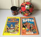 Cops Robbers Comic Capers Topper Dennis The Menace Farting Football Beano Mug VG