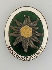 WWII German Army 'BERGFUHRER' Gebirgsjager mountain troops metal breast badge