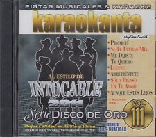 Intocable Serie Disco De Oro Vol 111 Karaokanta Karaoke  Nuevo New Sealed