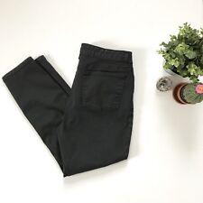 Eileen Fisher Women's 12 Black Coated Jeans Denim Pants Slim Skinny Organic A6
