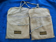 PAIR OF SIX SECTION ANTI TARNISH STERLING  FLATWARE POUCHES