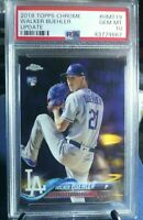 *** 2018 Topps Chrome Update! Walker Buehler Rookie RC #HMT19 PSA 10 GEM MINT **