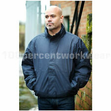 Size 4XL Navy Blue Warrior Ohio Bomber Style Jacket Coat Security Doorman Work