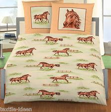 Bettwäsche 135x200 cm Pferd Pferde auf der Koppel 4305 BIBER (PF)