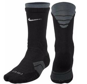 Nike Elite Vapor Mens M 6-8 Cushioned Football Socks Black SX4692 FAST! D75