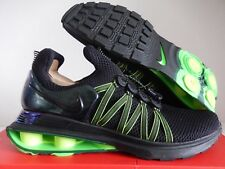 NIKE SHOX GRAVITY TURBO NZ BLACK-BLACK-GORGE GREEN SZ 13 [AR1999-003]