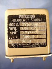 GREENRAY 376-000A RF Precision Frequency Source 220 MHz SMA Input: 28 VDC