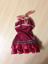 Barbie My Scene Swappin Style Madison Doll's Ruffled Burgundy Halter Dress