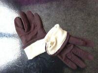 Gants hiver marron femme vintage Taille: unique seize fit all