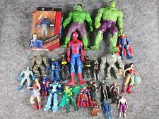 New listing Marvel Dc Comics Vtg Modern Mixed Lot of 24 Figures Xavier Batman Hulk Vulture
