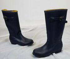 Original Tall Dark blue Rubber Wellies Rain Boots Women's Size 6 fast shipping!!