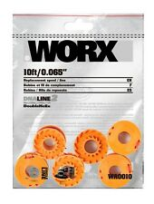 WORX 10 Ft.Trimmer Line Replacement Grass Edger Spool String Lawn Garden Pack-6
