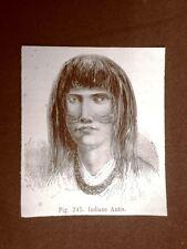 Giovane uomo Indiano Antis nel 1883 Moda e costume