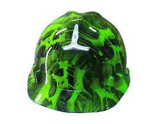 Toxic Skull Green MSA V-GUARD Cap Hard Hat