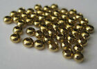 """Brass Beads for Fly Tying  - Gold Color - 5/32"""" 4mm 50 pkg MAT228"""