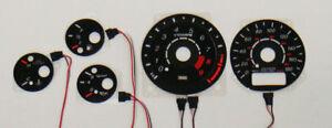 2 Stage Mazda 93-97 RX7 Turbo Reverse Glow Gauges 94 95