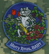 USN F-14 TOMCAT F-14 FIGHTER SQN TOMCAT νeΙ©®⚙💀 PATCH: Merry Christmas w/Roses