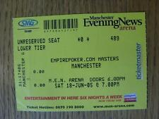 18/06/2005 Ticket: 6-A-Side Masters Tournament [At MEN Arena] (Creased)
