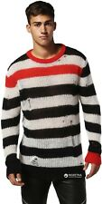 Diesel Sweater K-DOCK 0CARH 900 Multicolor Transparent Mohair Pullover XL RRP140