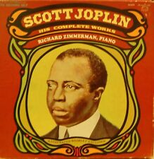 SCOTT JOPLIN-HIS COMPLETE WORKS (RICHARD ZIMMERMAN, PIANO) FIVE RECORD SET!