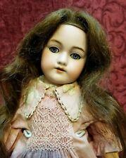 "14"" Antique German Handwerck 79 Bisque Socket Head Doll Blue Sleep Eyes Ca.1885"