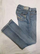 (*-*) SILVER JEANS * Womens SUKI FLAP Blue Jeans * Size 27 x 30 * FLAP POCKETS