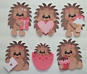 3D- U Pick- Love  Skunk Hedgehog Hug Kiss Heart Paper Embellishment