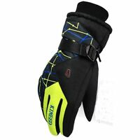 Mens Winter Waterproof Snow Ski Skiing Snowboard Hiking Outdoor Sports Gloves L