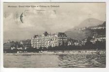 AK Montreux, Grand Hotel Eden et Chateau du Chatelard, 1947