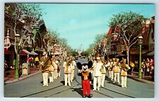 Vintage Postcard Disneyland Mickey Mouse And Disneyland Band Magic Kingdom
