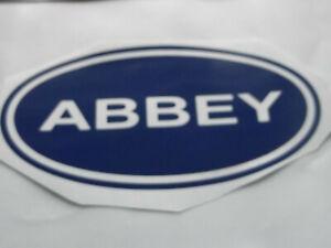 ABBEY Vinyl Stickers large Caravan Camping  set x4