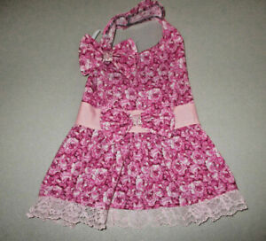 M Dog dress [rose] cotton handmade