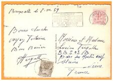 BRUXELLES (BELGIQUE) Soubvenir de ..MONUMENTS en 1959 / voyagée avec Timbre taxe
