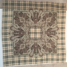BURBERRY WOMEN SHAWL SCARF LIMITED  EDITION PAISLEY NOVA PLAID NWT
