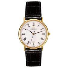 Relojes de pulsera de oro de cuero cocodrilo