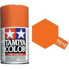 Tamiya TS-12 Orange Spray Paint Can  3.35 oz. (100ml) 85012